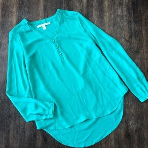 Lauren Conrad seafoam green blouse long sleeves